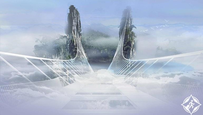 جسر تشانغجياجيه الزجاجى8