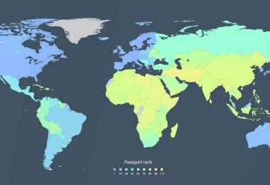 ترتيب جوازات السفر في العالم 2016