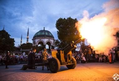 المدفع في ساحة السلطان احمد