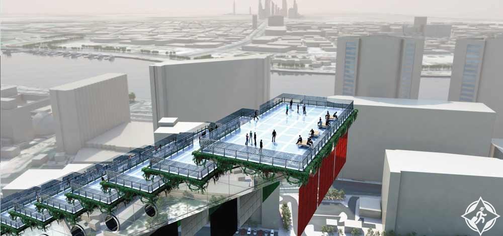 """بالصور.. """"درج دبي"""" تحفة هندسية من 500 درجة تنضم لمعالم دبي"""
