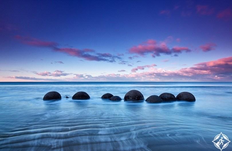صخور موراكي في نيوزيلندا