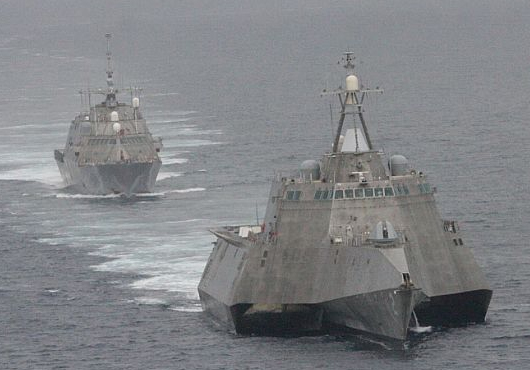 "A Pentagon report claimed both versions of the Littoral Combat Ship were, ""not survivable in a combat environment."" U.S. Navy Photo"