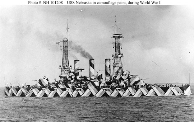 USS Nebraska with an experimental design in 1918