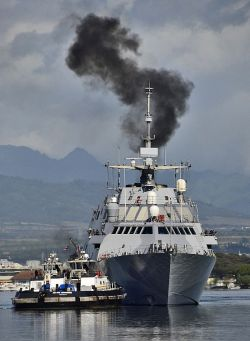 USS Freedom (LCS 1) arrives at Joint Base Pearl Harbor-Hickam on March, 11 2013. US Navy Photo