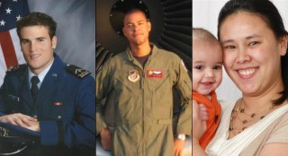 Capt. Mark Voss, Tech Sgt. Herman Mackey III and Capt. Victoria A. Pinckney were killed when their KC-135 went down in Kyrgyzstan on Friday. 