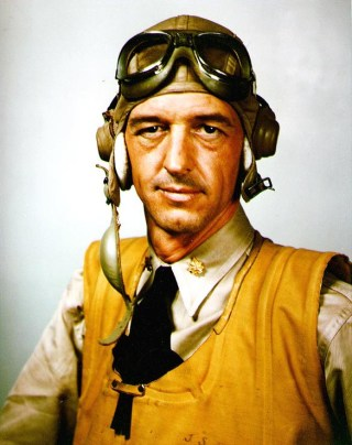 Then Lt. Cmdr. John Thach during World War II. US Navy Photo