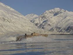 A Feb. 01, 2007 test of the Expeditionary Fighting Vehicle (EFV) in Alaska. US Marine Corps Photo