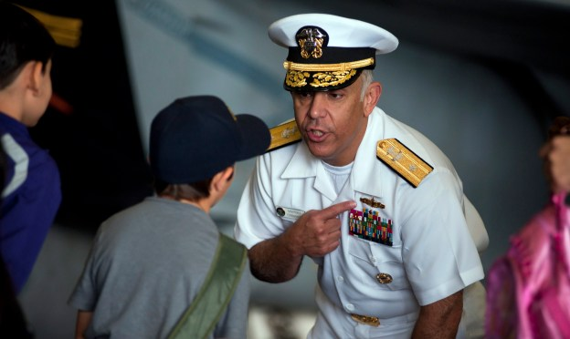 Rear Adm. Samuel Perez in 2011 while he was commander of Carrier Strike Group 1. Perez was tasked in 2012 to review the Littoral Combat Ship Program. US Navy Photo