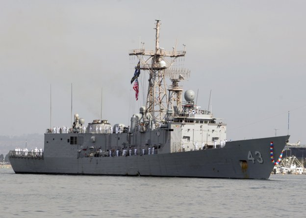 USS Thach (FFG 43) returns to San Diego after completing a six-month deployment in the U.S. 4th Fleet area of responsibility in April, 2013. US Navy Photo
