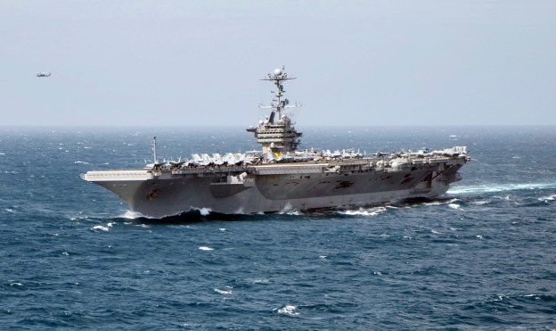 USS Harry S. Truman (CVN-75) during a live-fire exercise in April. US Navy Photo