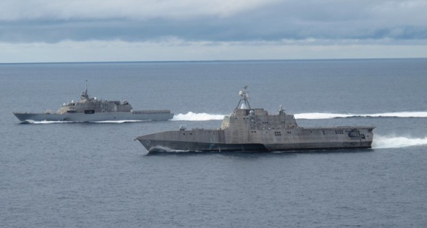 USS Freedom (LCS-1) and USS Independence (LCS-2) US Navy Photo