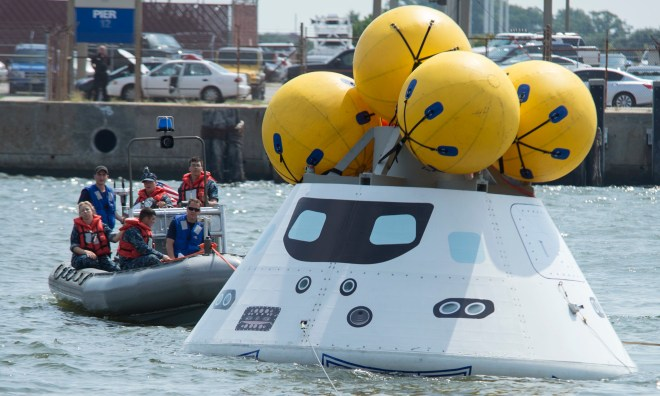 NASA and Navy Test Capsule Recovery Plan