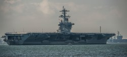 USS Theodore Roosevelt CVN-71 returns to Naval Station Norfolk, Va. from Sea Trials on Aug. 29, 2013.  US Navy Photo