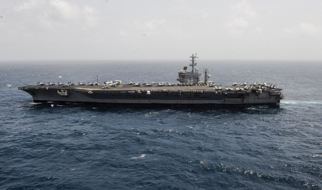 Carrier Nimitz Moved to the Red Sea