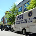 FBI collects evidence at Building 197 on board the Washington Navy Yard. US Navy Photo