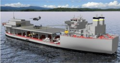 An artist's conception of the Afloat Forward Staging Base. USMC Photo