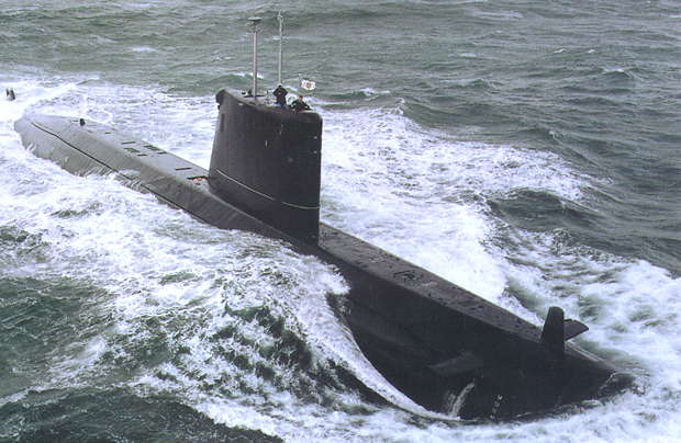 The French-built Agosta 90B Class Attack Submarine.
