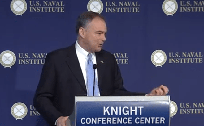 Kaine, Forbes Optimistic on Defense Deal by Friday