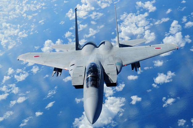 A Mitsubishi F-15J