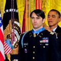 President Barack Obama presents the Medal of Honor to Capt. William D. Swenson on Oct. 15, 2013. US Army Photo.