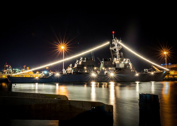 USS Mahan (DDG 72) at Naval Station Norfolk, Va. US Navy Photo