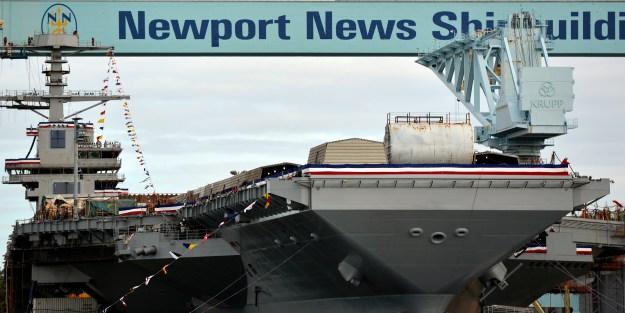 Ship Chirstening Preparations