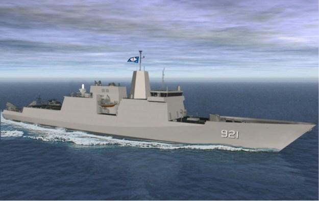 An artist's conception of Huntington Ingalls Industries Patrol Frigate design. HII Photo