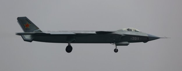 An image of the Chinese People's Liberation Army Air Force J-20 new stealth fighter prototype.