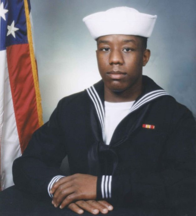 Master-at-Arms 2nd Class Mark A. Mayo was killed on board the destroyer USS Mahan on Monday. US Navy Photo