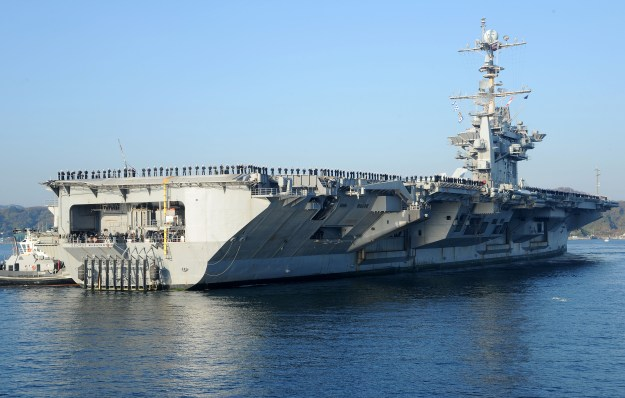 USS George Washington (CVN 73) returns to Commander, Fleet Activities Yokosuka, Japan in 2013. US Navy Photo