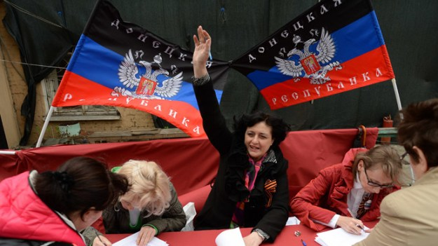 Donbass residents vote in the referendum on the status of the self-proclaimed Donetsk People's Republic. RIA/Novosti Photo