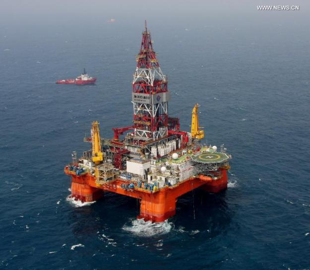 File photo of the Haiyang Shiyou 981 oilrig. Xinhua Photo