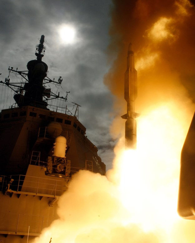 Japanese Aegis Destroyer JS Kongo (DDG-173) launches a SM-3 in 2007. U.S. Navy Photo