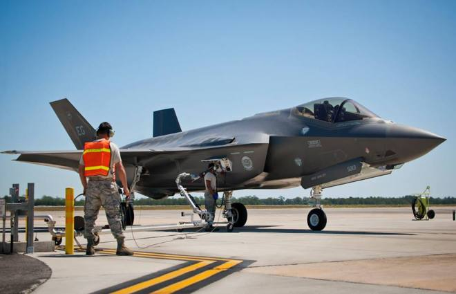 Some Eglin F-35A Operations Suspended Following Plane Fire