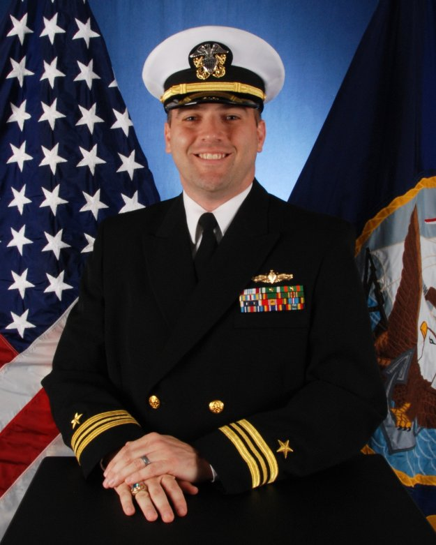 Lt. Cmdr. John Liddle, USS Hué City (CG-66). US Navy Photo