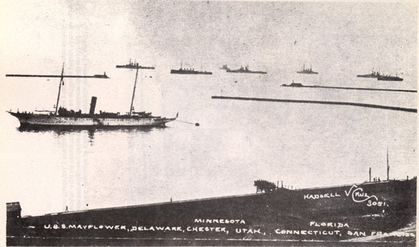 US ships in 1914 near Veracruz. US Navy Photo
