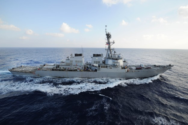 USS Mahan (DDG 72) transits the Mediterranean Sea on Aug. 31 2013. US Navy Photo