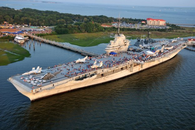USS Yorktown Museum. US Navy Photo