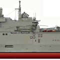 Mistral-class ship,  'Sevastopol' configured as a NATO/Canadian Navy ship. CASR Image