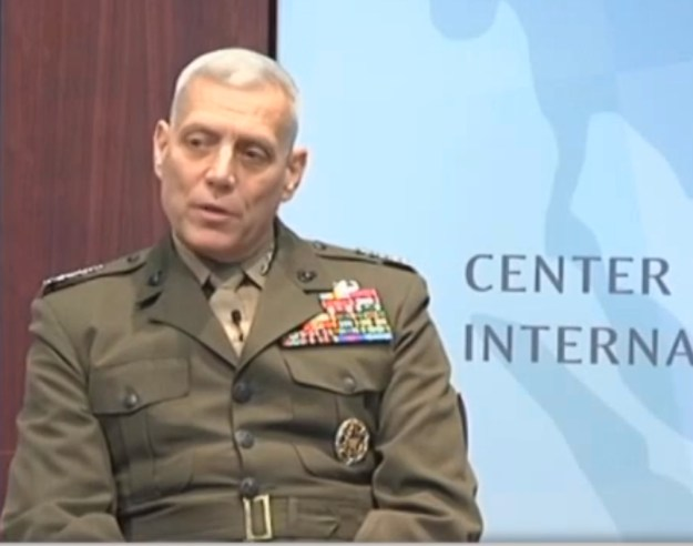 Gen. John M. Paxton Jr, assistant commandant of the Marine Corps, on Oct. 2, 2014 at CSIS. CSIS Photo