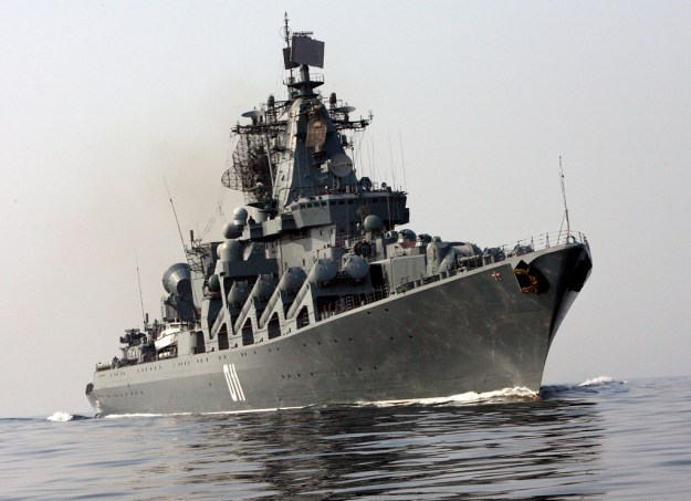 Guided missile cruiser Varyag in 2009.