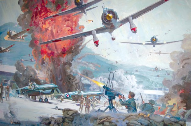 Promotional painting for the 1970 movie Tora! Tora! Tora! by artist Robert McCall via Airport Journals