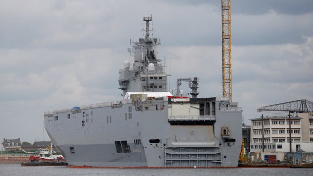 Mistral-class helicopter carrier Vladivostok via Reuters