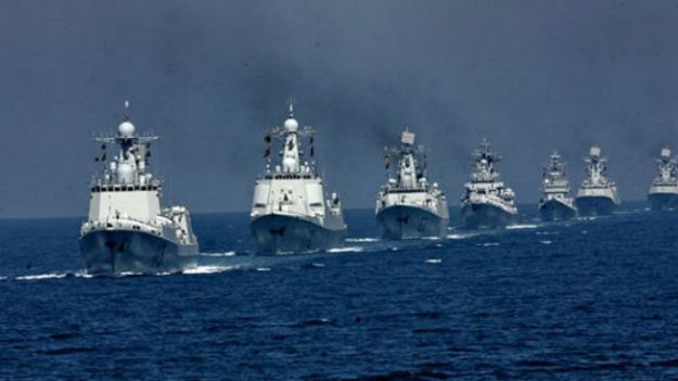 Undated photo of ships of the China's People's Liberation Army Navy (PLAN) in 2012. PLAN Photo via Press TV