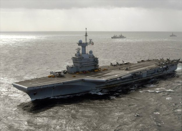 French carrier Charles de Gaulle. US Navy Photo