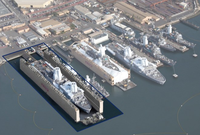 BAE Systems Plans $100 M Expansion in San Diego Yard, Includes New Floating Dry Dock