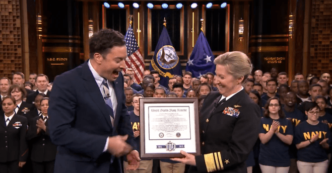 Video: Chief of Navy Reserve Braun Enlists Sailors on The Tonight Show