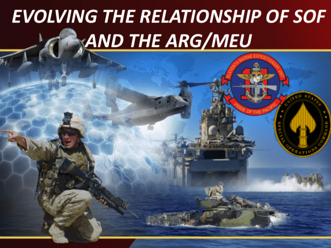 Document: Evolving the Relationship of SOF and the ARG/MEU