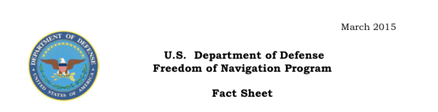 Document: Department of Defense Freedom of Navigation Report