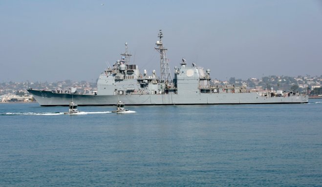 Modernized Cruiser Chancellorsville Leaving for New Homeport in Japan